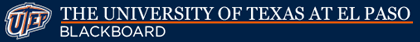 UTEP Blackboard Learn